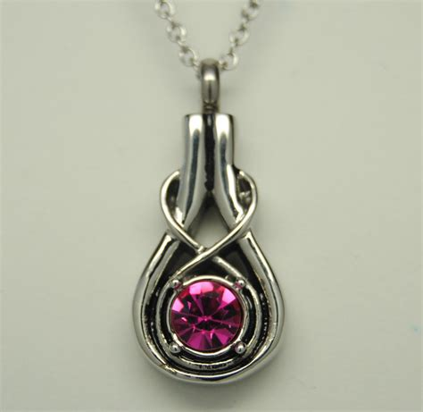 memorial jewelry infinity knot cremation urn necklace pink cremation jewelry keepsake memorial ebay