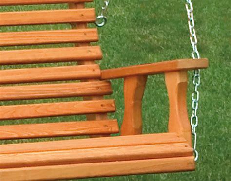 cypress swing cypress highback porch swing