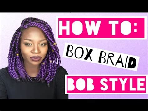 how to style short hair transsexuals diy how to do bob box braids lioness davis youtube