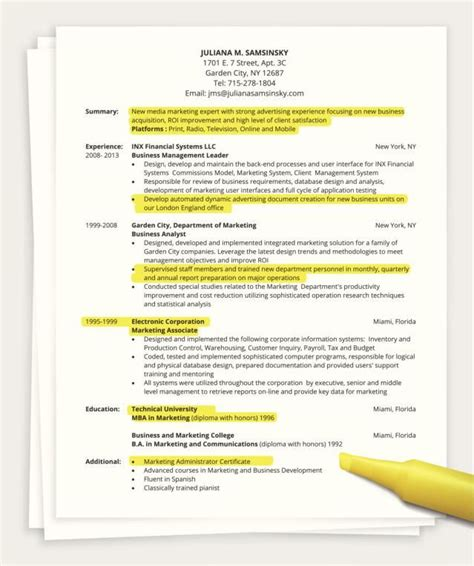 Resume Writing Hacks Tips For Writing A One Page Resume
