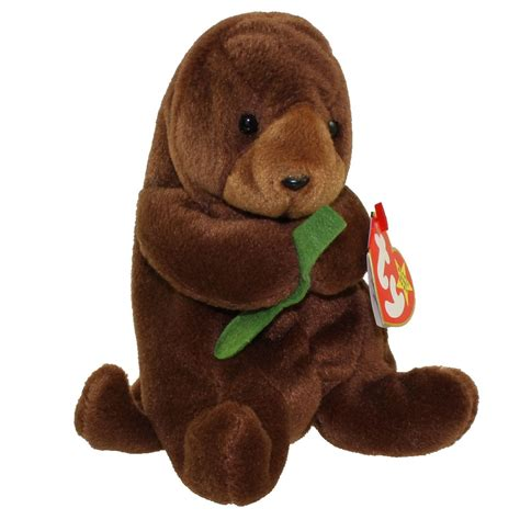 ty beanie baby seaweed the otter 6 inch bbtoystore
