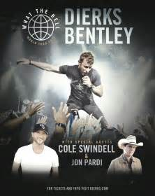 Dierks Bentley Concert Tickets Dierks Bentley 2017 What The Hell World Tour Country