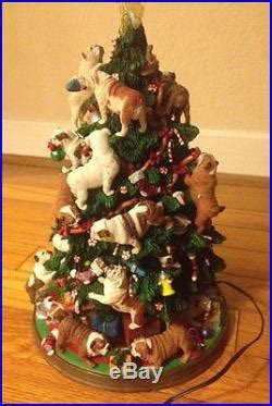 bulldog christmas tree the danbury mint vintage porcelain