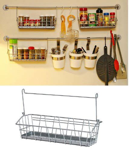 ikea hanging kitchen storage ikea steel wire basket spice rack hang or free standing