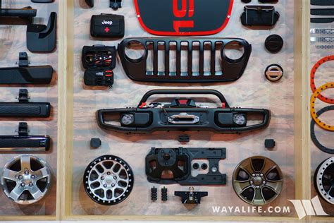 mopar jeep accessories 2017 sema 1st official jeep jl wrangler pics jl mopar
