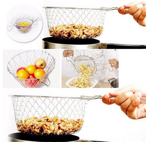 Chef Basket Kitchen Tools multifunction stainless steel fry strainer steam rinse strain chef basket magic basket kitchen
