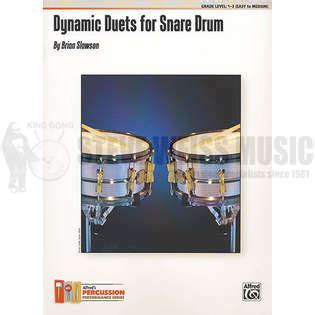 Dynamic Duet dynamic duets for snare drum by brian slawson duet snare drum steve weiss