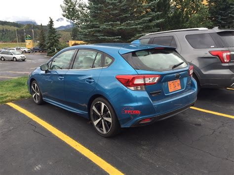 subaru hatchback spied in the wild 2017 subaru impreza hatchback the