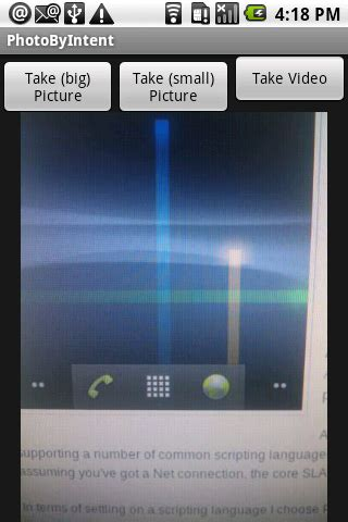 tutorial android camera android development news exle tutorial source code