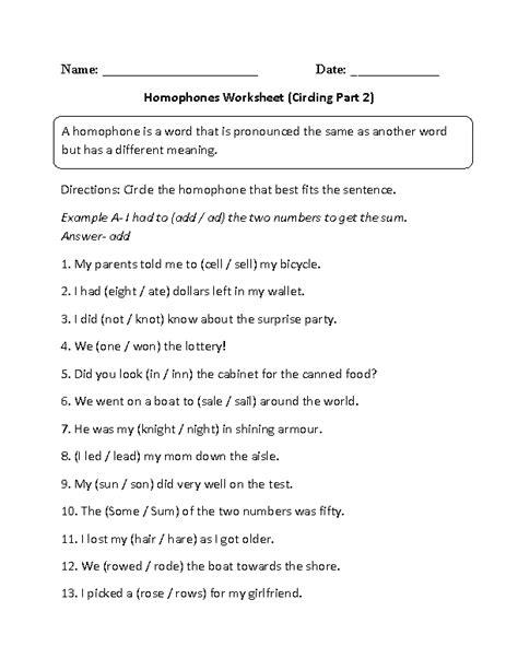 homophones worksheet for 2nd grade englishlinx homophones worksheets