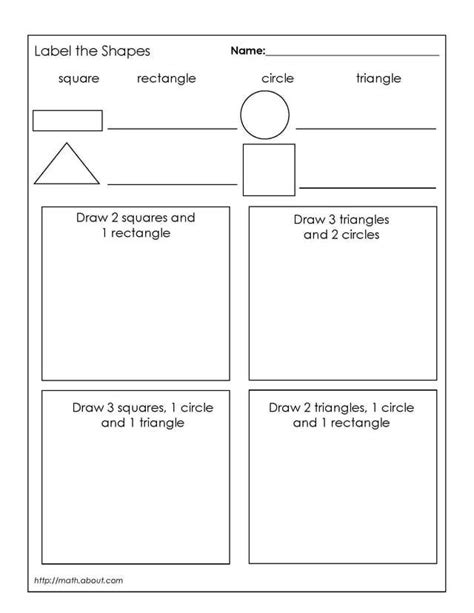 1st Grade Geometry Worksheets by Sorting Shapes By Attributes Worksheets For Kindergarten