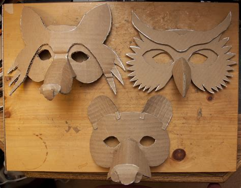How To Make Masks Out Of Paper - simple masks fox owl here is the collection of