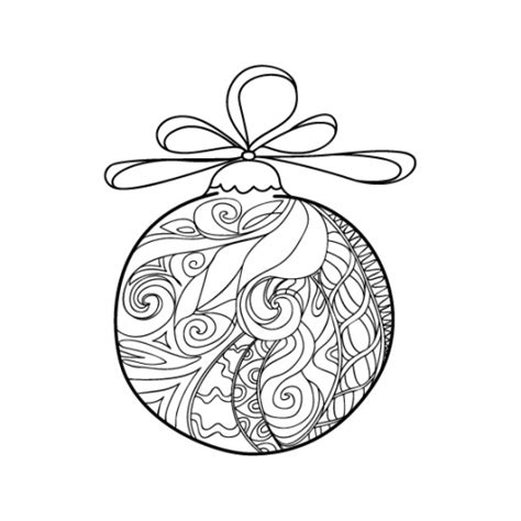 Christmas Coloring Anti Stress Therapy 21 Ornaments Coloring Pages For Adults