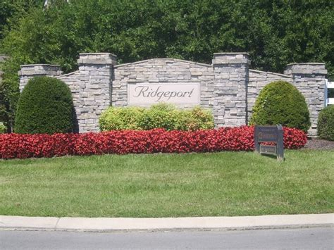 Landscape Design Around Signs Nashville Entrance Landscaping Subdivisions Subdivision