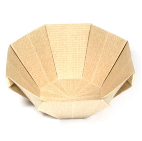 Paper Bowl Origami - how to make a 3d origami bowl page 9