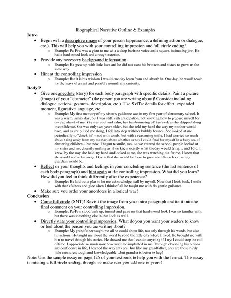 biography in narrative form best photos of personal autobiography essay personal