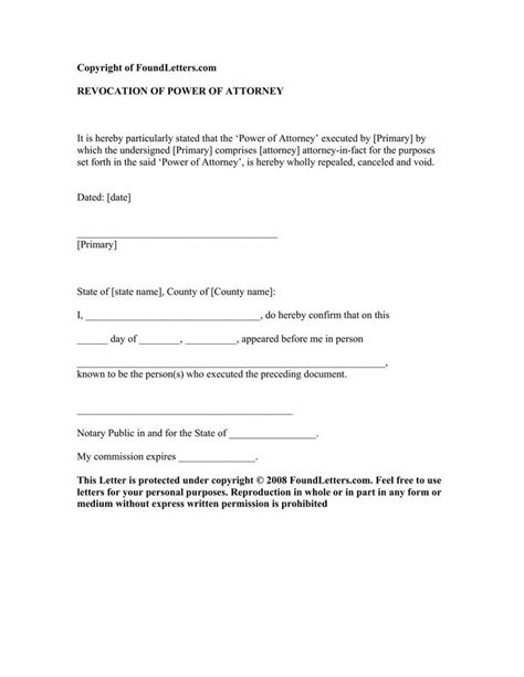 Demand Letter And Power Of Attorney Notarized Letter Template Free Premium Templates Forms Sles For Jpeg Png