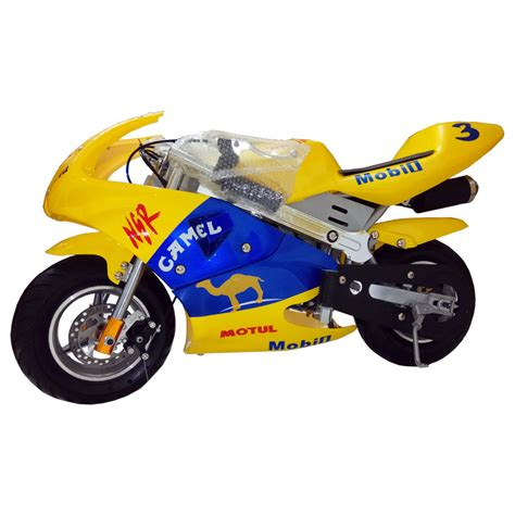 Mini Pocket mini pocket sport bike 49cc yellow color dc outdoorsports