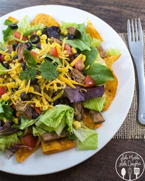 beef taco salad shredded beef taco salad like mother like daughter
