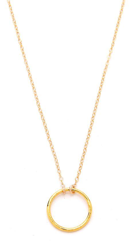 gorjana viceroy necklace in gold lyst