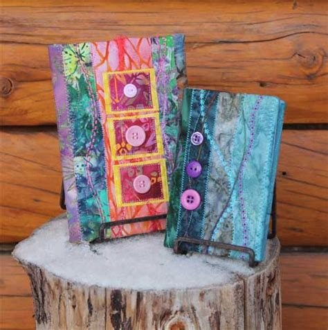 pattern fabric book cover quilted book covers free sewing tutorial