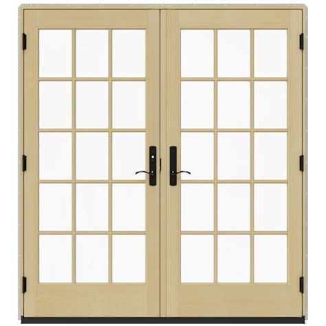 Prehung Patio Doors Jeld Wen 72 In X 80 In W 4500 Desert Sand Prehung Right Inswing Patio Door With
