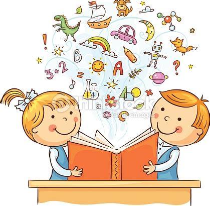 libro le droit la ni 241 os leyendo un libro juntos arte vectorial thinkstock