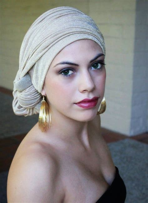 gold turban chemo hat wrap alopecia scarf or