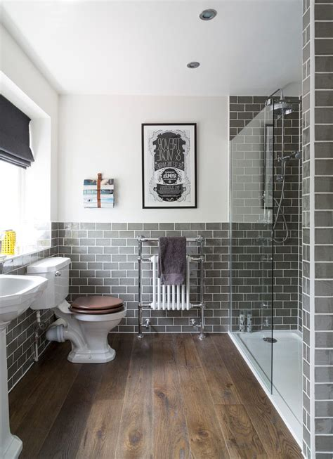 Decorating ideas with dark wood floors bathroom traditional with metro tiles bathroom tiles