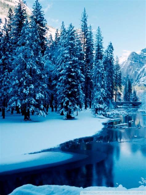 blue winter landscape  hd desktop wallpaper   ultra