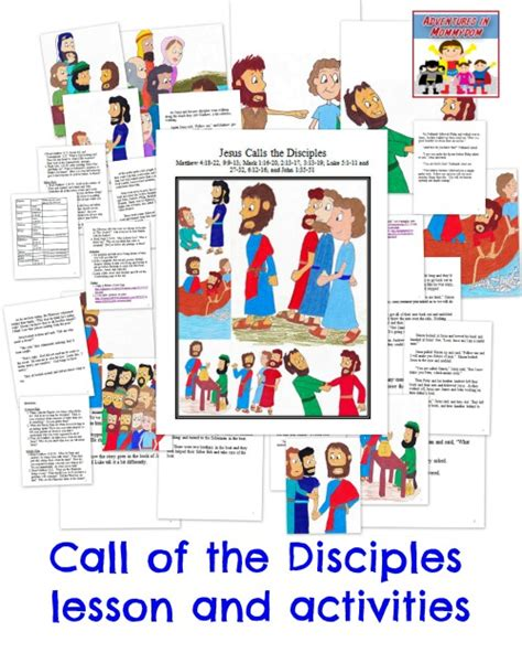 12 Disciples Worksheet by Call Of The 12 Disciples Activities