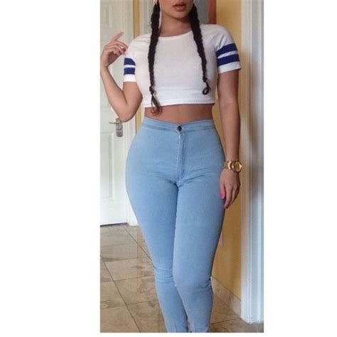 Cutie Top 2 blue high waisted top
