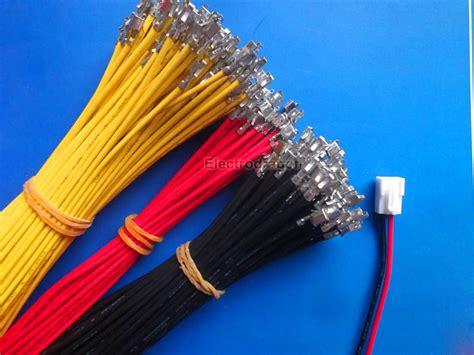100pcs connecting cable w crimp bare connector jst type