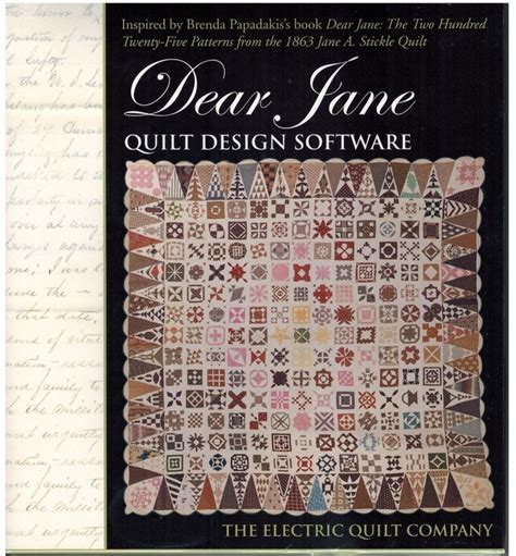 quilt pattern making software dear jane quilt design software from electric quilt co