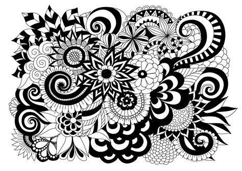black and white coloring pages of flowers flowers and vegetation coloring pages for adults