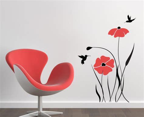 Sticker Stencils For Walls rouge coquelicot fleur stickers pour murs b 233 b 233 chambre designs