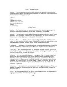 template of press release 46 press release format templates exles sles
