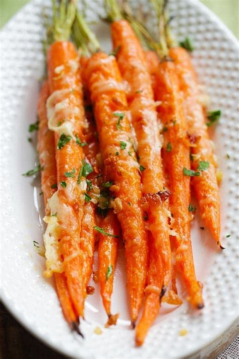 parmesan roasted garlic parmesan roasted carrots easy delicious recipes