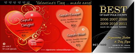 valentines spa specials valentine s day spa specials signatures salon and day