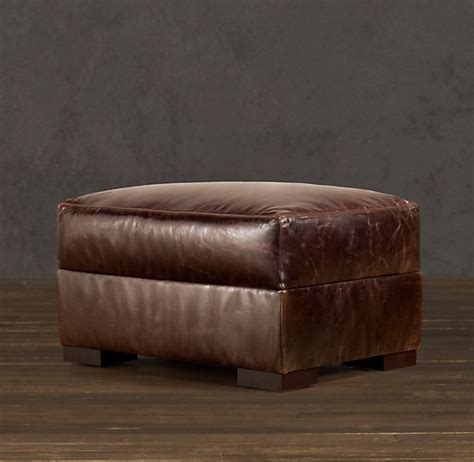restoration hardware leather ottoman ottoman to match restoration hardware leather chair