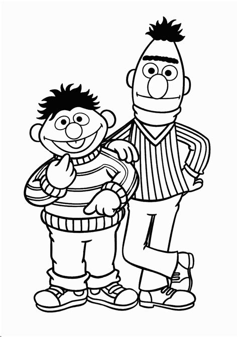 Ernie And Bert Template 2nd Birthday Ideas Pinterest Bert And Ernie Coloring Pages
