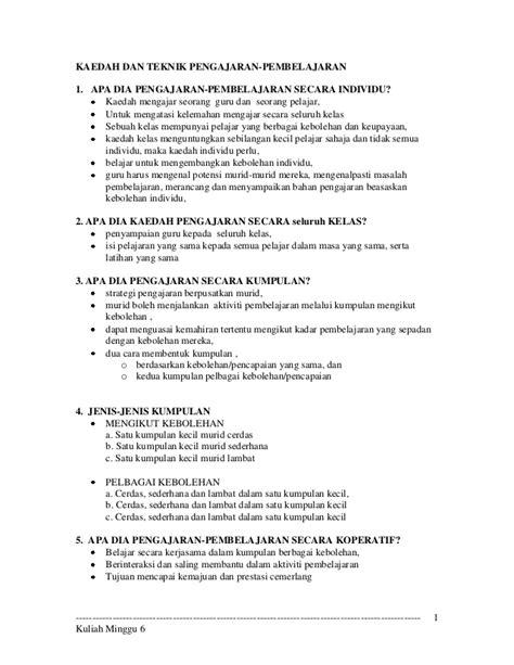 Kurikulum Dan Pengajaran 1 pengajaran dan pembelajaran