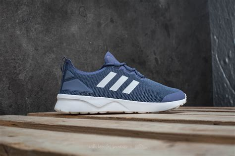 Adidas Zx Flux Adv Smooth Womens White Collegiate Navy adidas zx flux blue gray sneaker factory