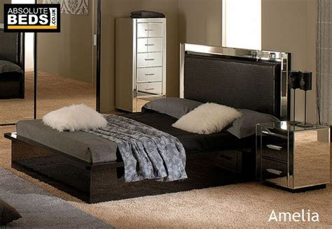 Mirror Bed Frame Absolute Beds Amelia Mirror Bed Frame Best Price
