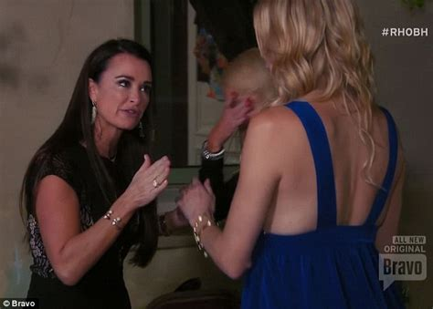 kyle weighs in on brandi and kims behavior at the reunion ugly fight kyle richards squared off against brandi