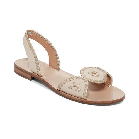 Lr 04 Sandal Flat rogers liliana flat sandals in lyst