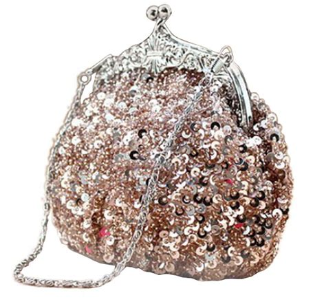 Sequined Bag chicastic sequined mesh beaded antique clutch purse ebay