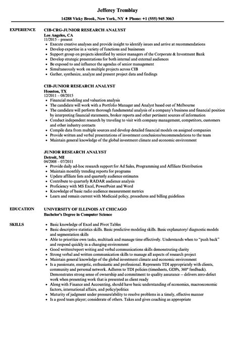 research analyst resume sle best junior qa tester resume sles images professional