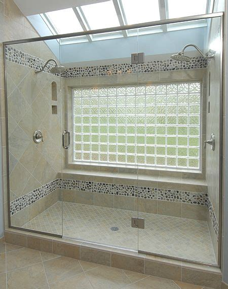 window in bathroom shower bathtub to shower conversion glass block window with two