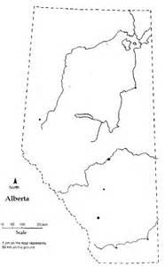 Calgary Outline by Alberta Printable Map